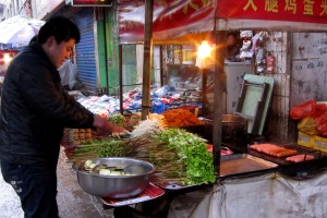 hot pot vendor, street market