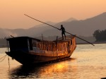 Moving the Boat, Luangphrabang, Laos