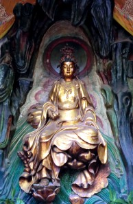 Kuan Yin, Buddhist goddess of compassion, White Horse Temple, Hunan China