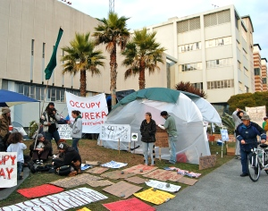 Friday, November 11, 2011 Eureka Occupy camp