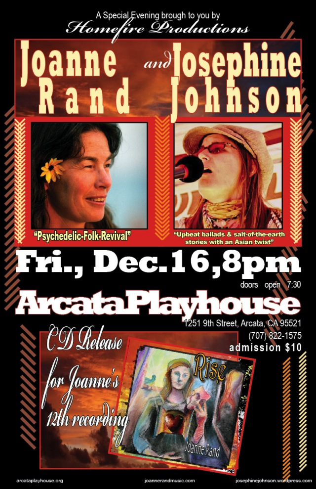 Joanne Rand & Josephine Johnson, Arcata Playhouse, December 16, 2011