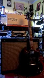 Bryan's electric guitar