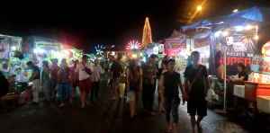 saturday night market, surat thani