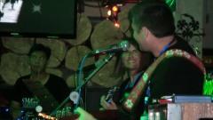 Ping Pong (drummer), Josephine Johnson, Jock Mackay, Chill Haus, Surat Thani, Thailand, July 18, 2012