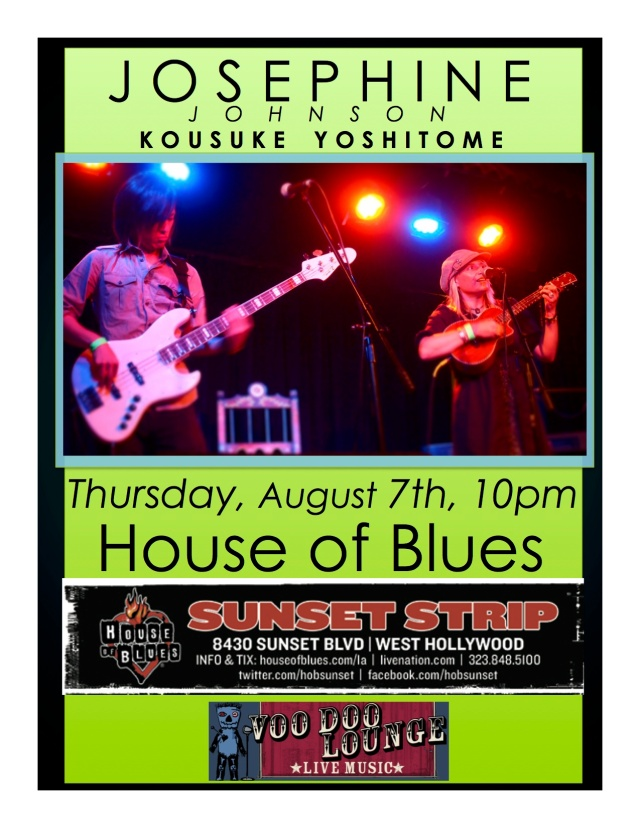 osephine & Kousuke live at House of Blues, Voodoo Lounge, Thursday, August 7, 2014