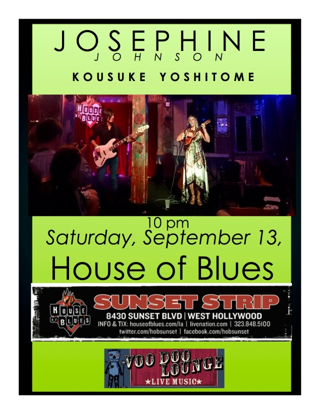 Josephine & Kousuke, House of Blues, Saturday, September 13